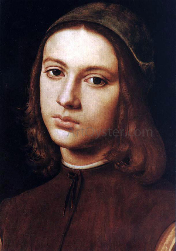 Pietro Perugino Portrait of a Young Man - Canvas Art Print