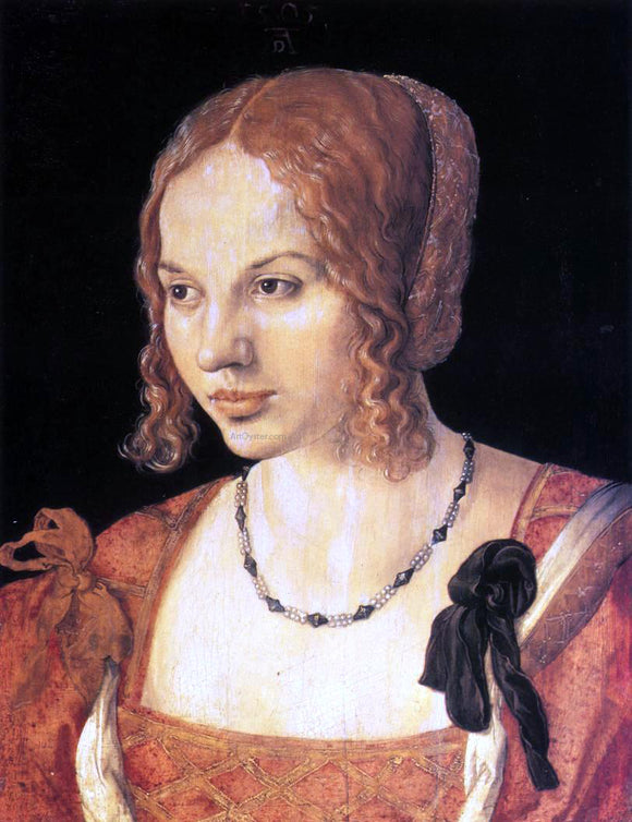 Albrecht Durer Portrait of a Young Venetian Woman - Canvas Art Print
