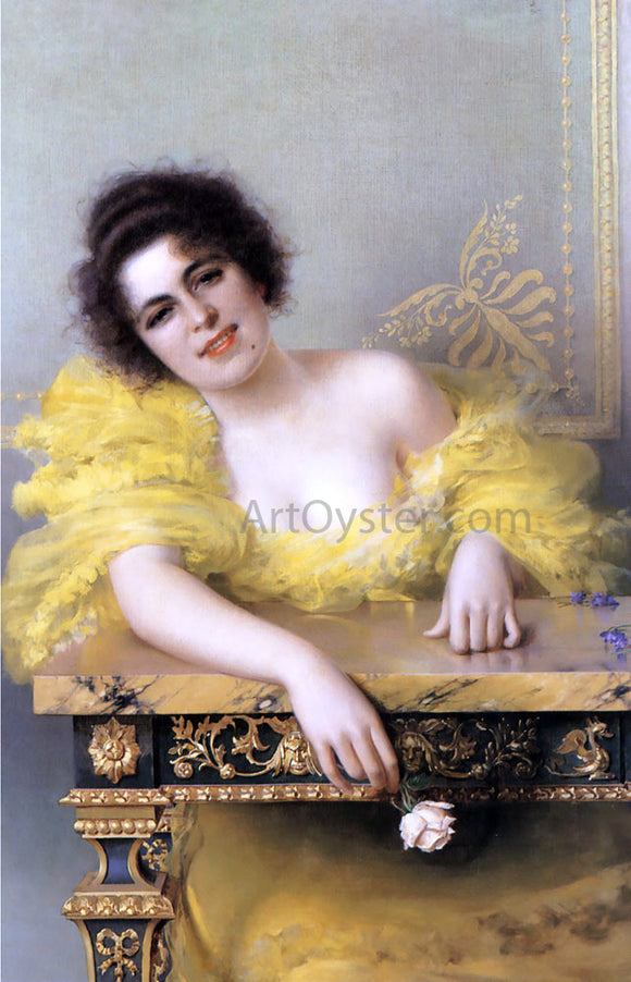 Vittorio Matteo Corcos Portrait of a Young Woman - Canvas Art Print