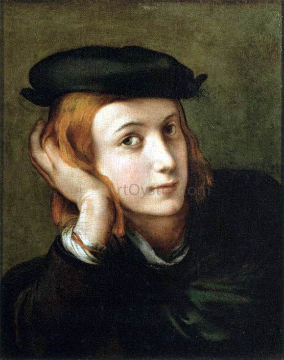 Parmigianino Portrait of a Youth - Canvas Art Print