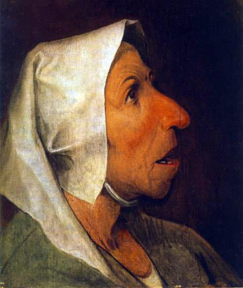 The Elder Pieter Bruegel Portrait of an Old Woman - Canvas Art Print