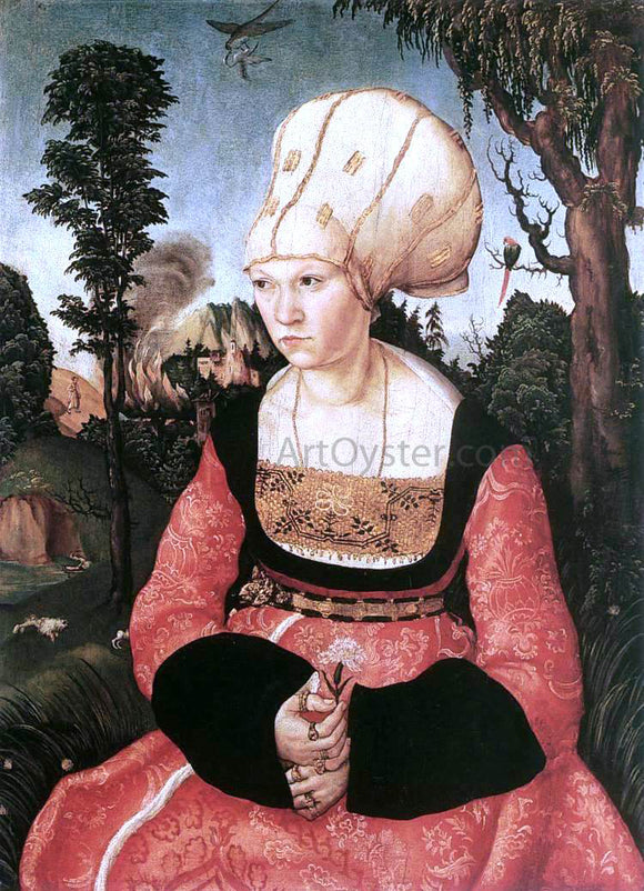 The Elder Lucas Cranach Portrait of Anna Cuspinian - Canvas Art Print