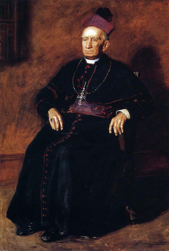 Thomas Eakins Portrait of Archbishop William Henry Elder - Canvas Art Print