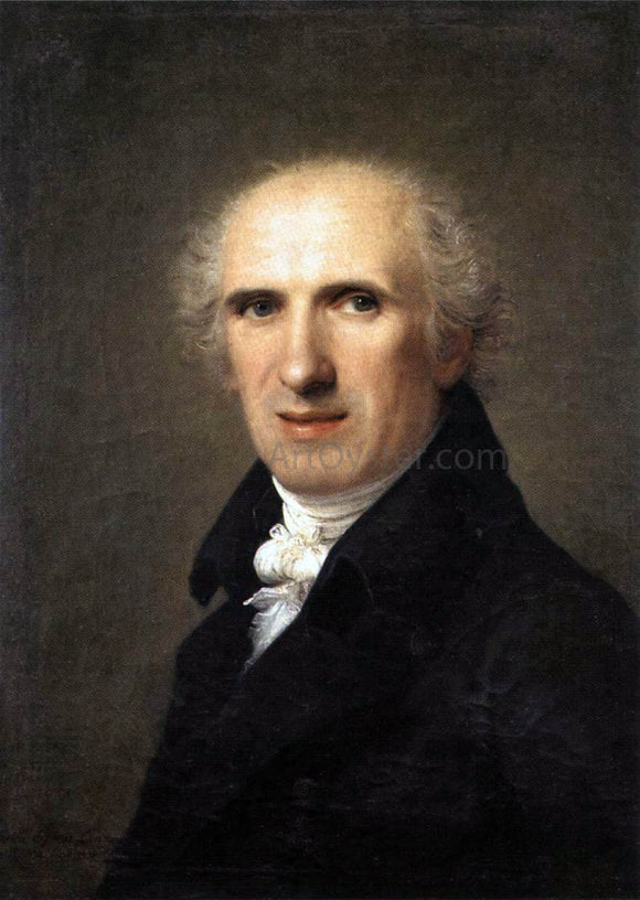 Gaspare Landi Portrait of Canova - Canvas Art Print