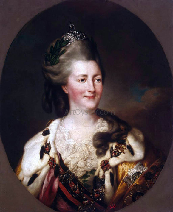 Richard Brompton Portrait of Catherine II - Canvas Art Print