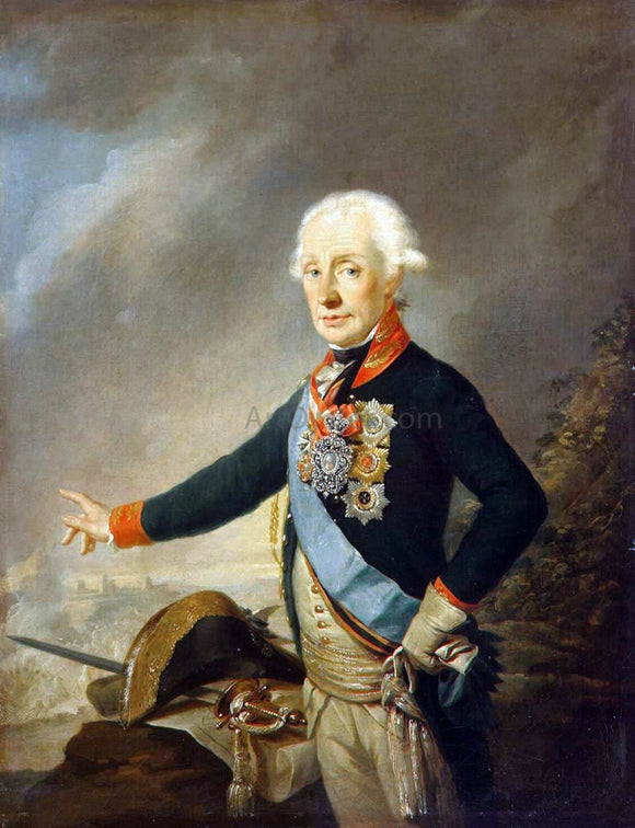 Joseph Kreutzinger Portrait of Count Alexander Suvorov - Canvas Art Print