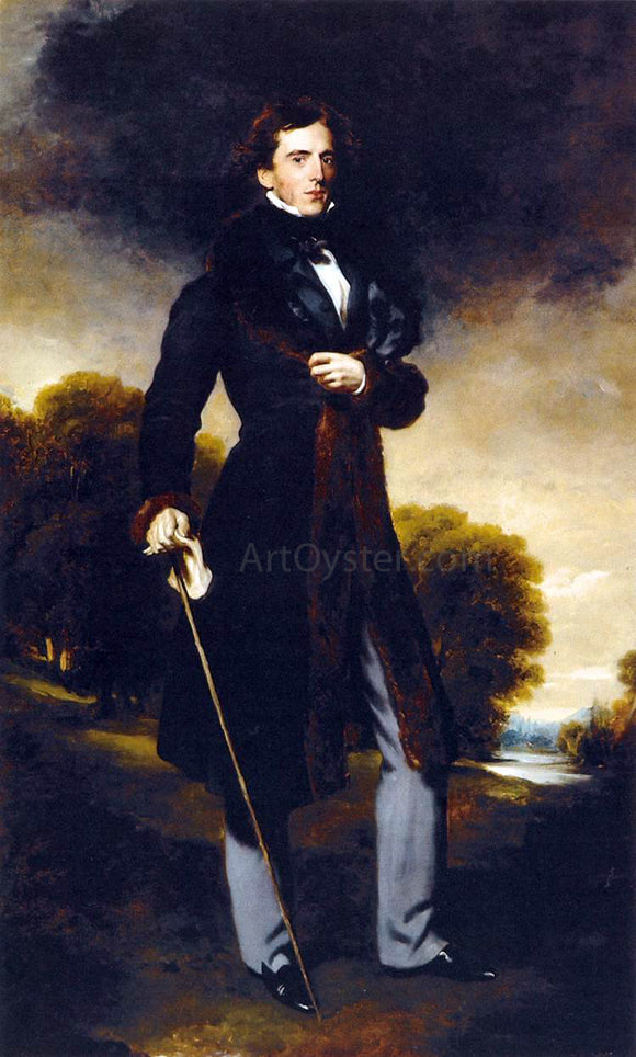 Sir Thomas Lawrence Portrait of David Lyon - Canvas Art Print