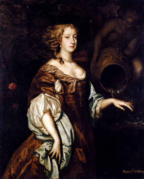 Sir Peter Lely Portrait Of Diana, Countess Of Ailesbury - Canvas Art Print
