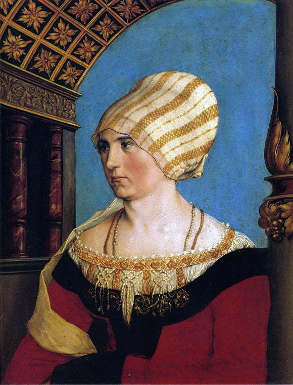 The Younger Hans Holbein Portrait of Doprothea Meyer, nee Kannengiesser - Canvas Art Print