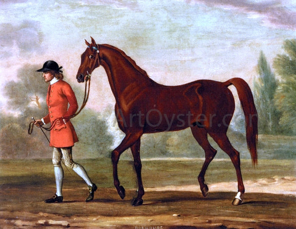 Thomas Spencer Portrait of 'Dormouse', a Bay Racehorse Led by a Jockey - Canvas Art Print