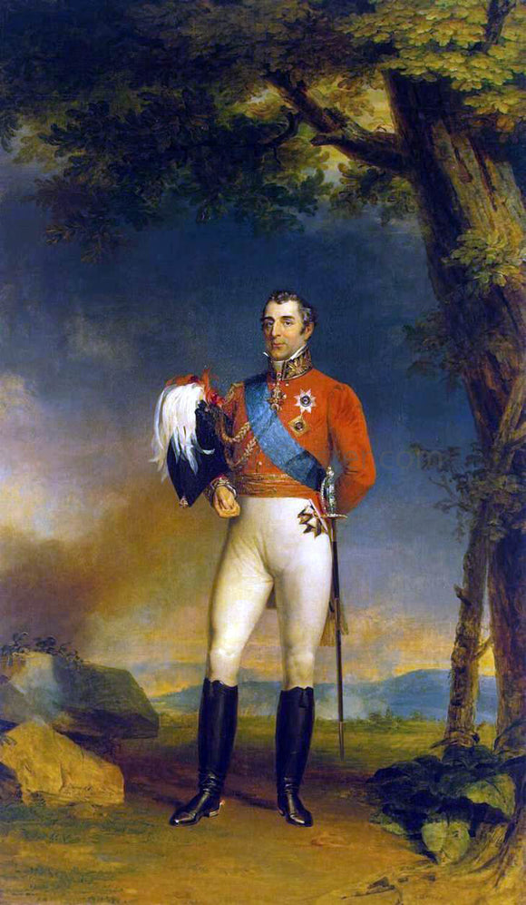 George Dawe Portrait of Duke of Wellington - Canvas Art Print