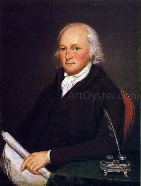 Charles Willson Peale Portrait of Edmund Physick - Canvas Art Print