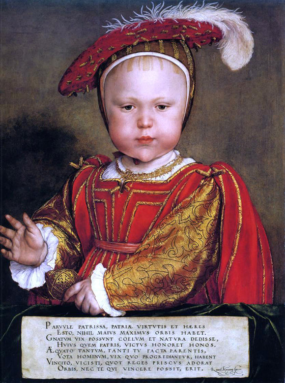 The Younger Hans Holbein Portrait of Edward, Prince of Wales - Canvas Art Print
