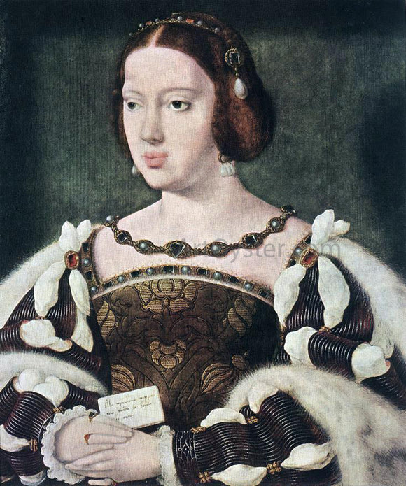 Joos Van Cleve Portrait of Eleonora, Queen of France - Canvas Art Print