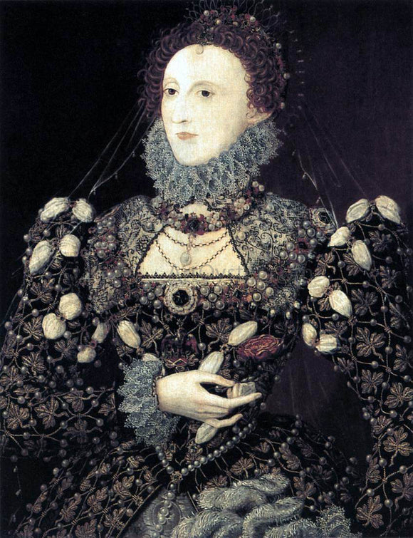 Nicholas Hilliard Portrait of Elizabeth I, Queen of England - Canvas Art Print