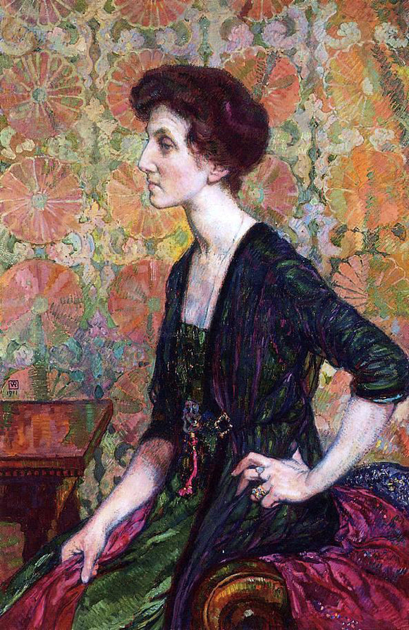 Theo Van Rysselberghe Portrait of Else Lampe-Von Quita - Canvas Art Print