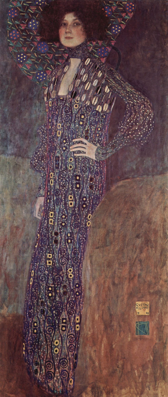 Gustav Klimt Portrait of Emilie Floge - Canvas Art Print