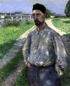Gustave Caillebotte Portrait of Eugene Lamy - Canvas Art Print