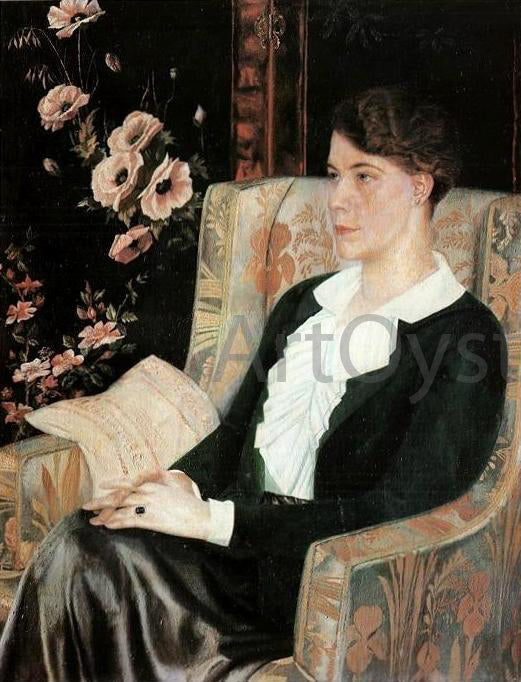 Pavel Filonov Portrait of Evdokiya Nikolaevna Glebova the Artist's Sister - Canvas Art Print