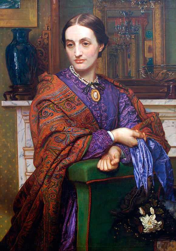 William Holman Hunt Portrait of Fanny Holman Hunt - Canvas Art Print
