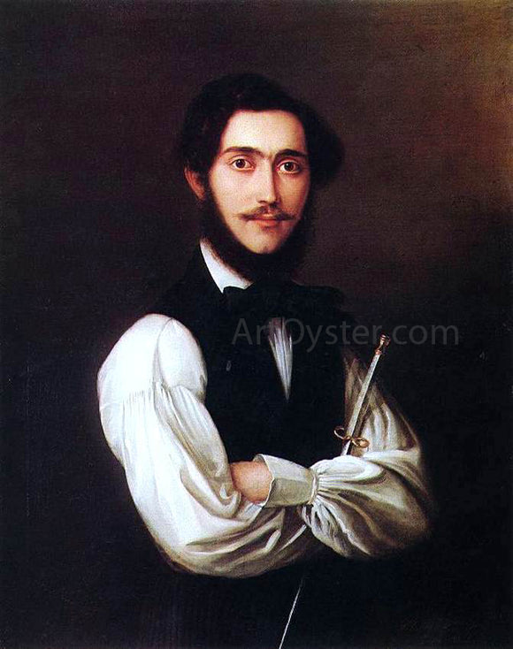 Jakab Marastoni Portrait of Ferenc Friedrich - Canvas Art Print
