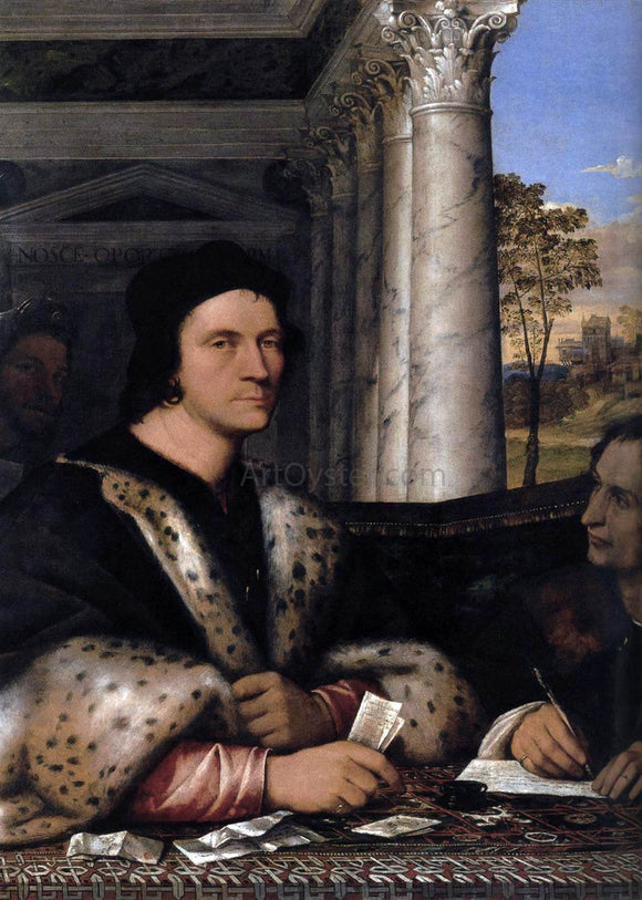 Sebastiano Del Piombo Portrait of Ferry Carondelet and his Secretaries - Canvas Art Print