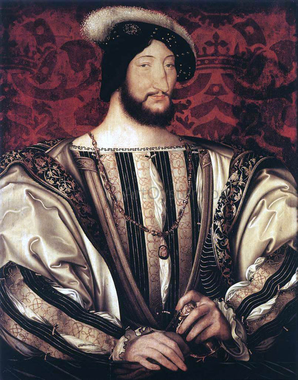 Jean Clouet Portrait of Francois I, King of France - Canvas Art Print