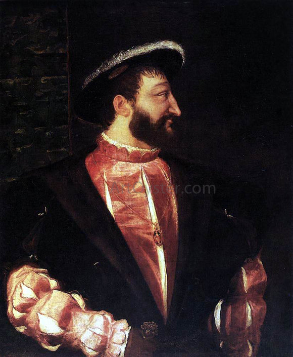 Titian Portrait of Francis I - Canvas Art Print