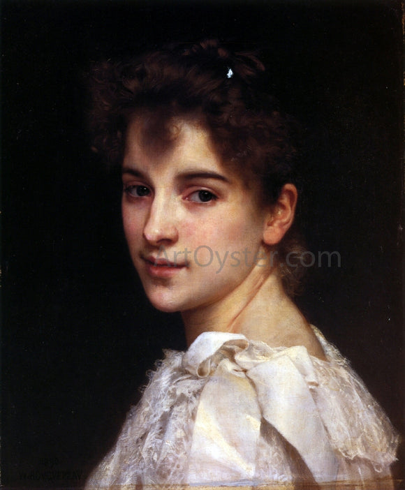 William Adolphe Bouguereau Portrait of Gabrielle Drienza - Canvas Art Print
