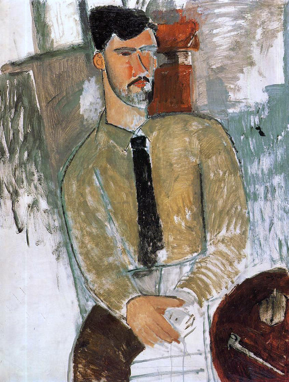 Amedeo Modigliani Portrait of Henri Laurens - Canvas Art Print