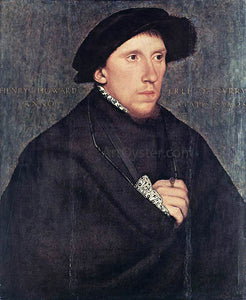 The Younger Hans Holbein Portrait of Henry Howard, the Earl of Surrey - Canvas Art Print