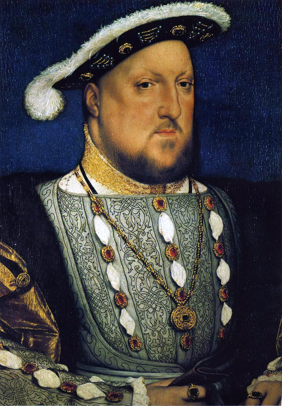 The Younger Hans Holbein Portrait of Henry VIII - Canvas Art Print
