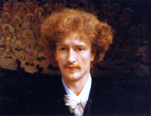 Sir Lawrence Alma-Tadema Portrait of Ignacy Jan Paderewski - Canvas Art Print