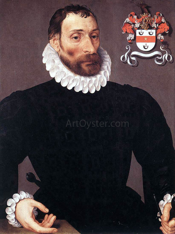 Pieter Pourbus Portrait of Jan Wyts - Canvas Art Print