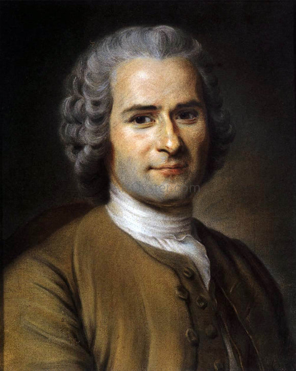 Maurice Quentin De La Tour Portrait of Jean-Jacques Rousseau - Canvas Art Print