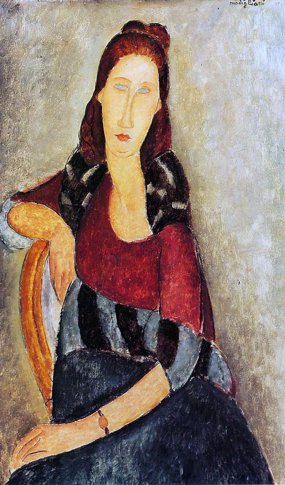Amedeo Modigliani Portrait of Jeanne Hebuterne - Canvas Art Print