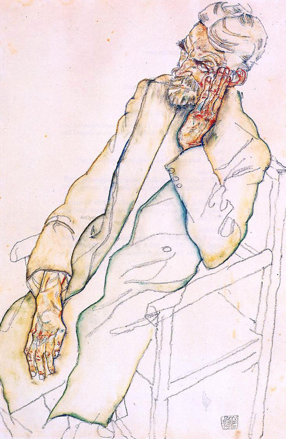 Egon Schiele Portrait of Johann Harms - Canvas Art Print