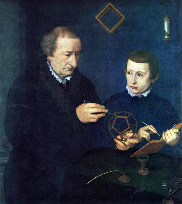 Neufchatel Nicolas Portrait of Johannes Neudorfer and his Son - Canvas Art Print