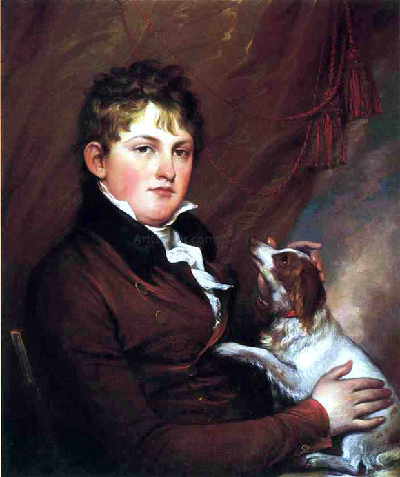 John Trumbull Portrait of John M. Trumbull, the Artist's Nephew - Canvas Art Print