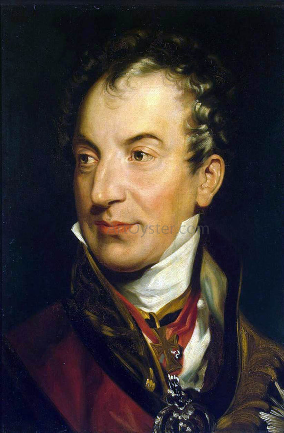 Sir Thomas Lawrence Portrait of Klemens Wenzel von Metternich - Canvas Art Print