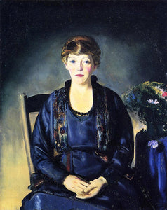 George Wesley Bellows Portrait of Laura - Canvas Art Print
