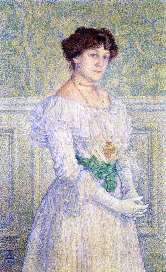 Theo Van Rysselberghe Portrait of Laure Fle - Canvas Art Print