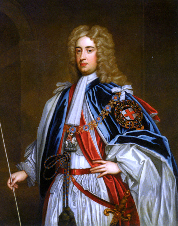 Sir Godfrey Kneller Portrait of Lionel Sackville - Canvas Art Print