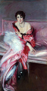 Giovanni Boldini Portrait of Madame Julliard in Red - Canvas Art Print