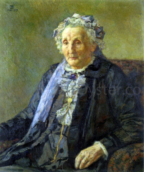 Theo Van Rysselberghe Portrait of Madame Monnon - Canvas Art Print