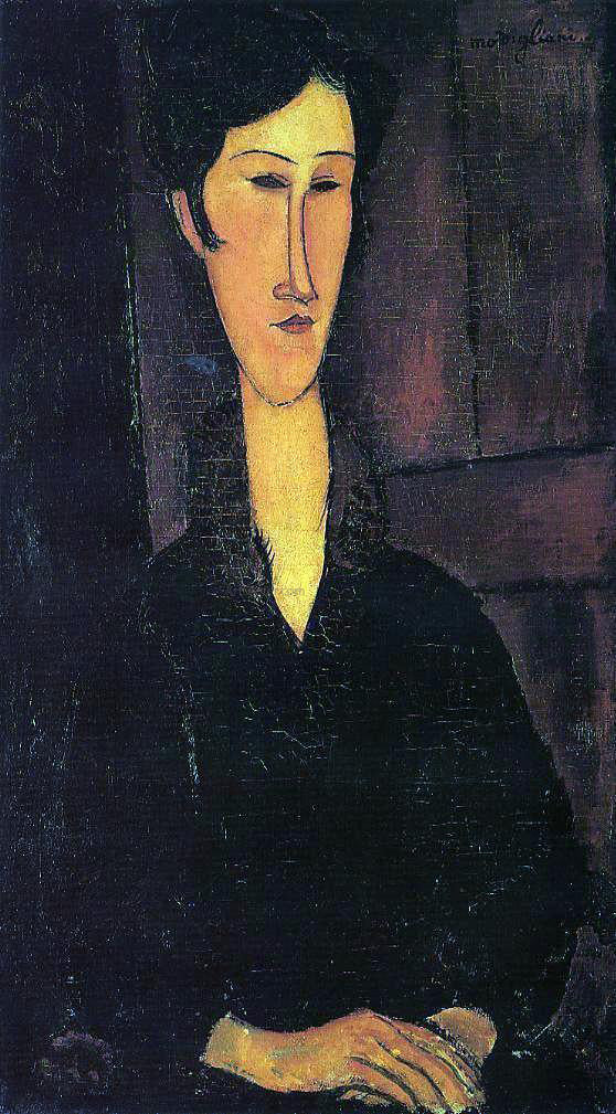 Amedeo Modigliani Portrait of Madame Zborowska - Canvas Art Print