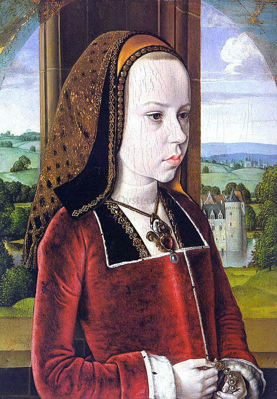 Master of Moulins Portrait of Margaret of Austria (Portrait of a Young Princess) - Canvas Art Print