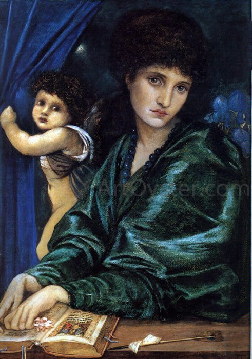 Sir Edward Burne-Jones Portrait of Maria Zambaco - Canvas Art Print