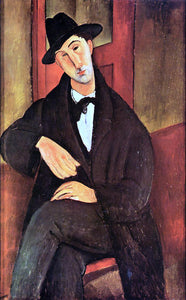 Amedeo Modigliani Portrait of Mario Varvogli - Canvas Art Print