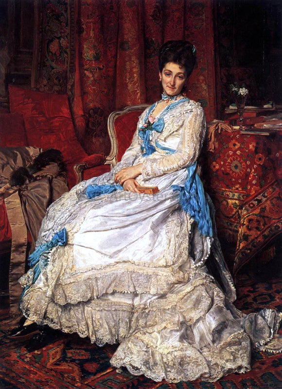 Jean-Louis Ernest Meissonier Portrait of Marquesa de Manzanedo - Canvas Art Print